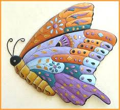 outdoor metal erfly wall art