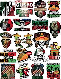 Amazon Com Mexican Stickers Calcomanias Mexicanas 100 Vinyl Stickers For Adults Funny Decals For Hardhat Construction Laptop Water Bottle Or Lunchbox Pegatinas Cascos Calcomanias Para Autos Arts Crafts Sewing