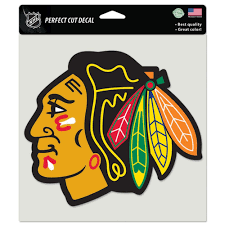 Chicago Blackhawks Logo 8 X 8 Die Cut Decal