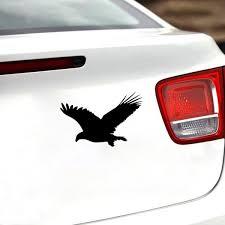 Yjzt 16 6cm 10 9cm Fun Eagle Bird Vinyl Car Window Sticker Black Silver Decal Car Styling C11 1078 Shop The Nation