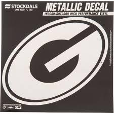 Georgia Bulldogs Metallic Decal Uga Metallic Decal Georgia Bulldogs Chrome Vinyl Decal