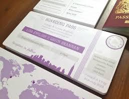 boarding p wedding invitation card