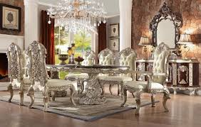 hd 8017 traditional dining table set in