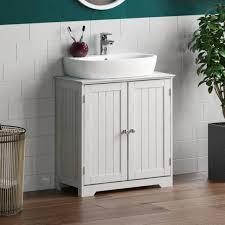 2 door 50cm white bathroom sink basin