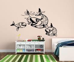 Fishing Fishes Fish Water Wall Decal Wall Decals Nuovocreations Com Nuovocreations