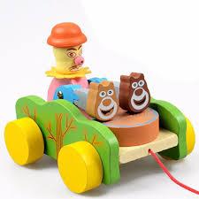 Đồ chơi bằng gỗ - Bé kéo xe Chú hề đánh trống chỉ 79.000₫