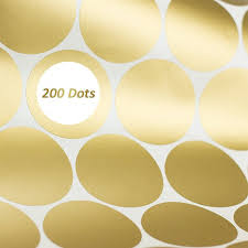 Toyfunny Gold Wall Decal Dots 200 Decals Easy To Peel Easy To Stick Safe On Painted Walmart Com Walmart Com