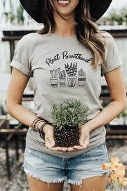 women s graphic tee plant lady shirt