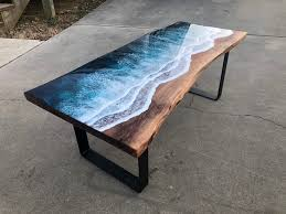 creative blue ocean coffee table