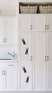 Black Laundry Door With Clothes Pins Decal With Accent Laundry Room Vinyl Wall Decal