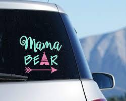 Amazon Com Mama Bear Car Decal Mom Sticker With Teepee Arrow Your Choice Of Size And Colors Handmade
