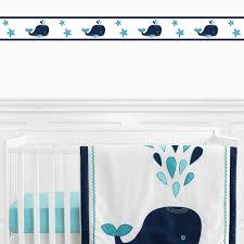 Sweet Jojo Design Blue Whale Baby Kid Wall Paper Border Room Decor Wallcoverings For Sale Online