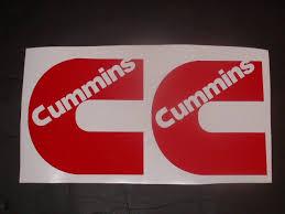 Pair Of Cummins Logo Window Decals