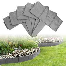 Dricroda 10pcs Plastic Fence Garden Border Fencing Fence Pannels Plant Border Cobbled Stone Style Landscape Decor Edging For Lawn Yard Garden Grey Amazon In Garden Outdoors