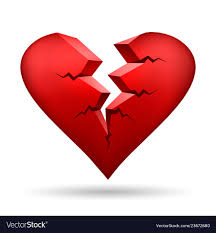 broken heart royalty free vector image