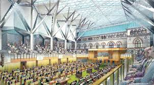 new glass roofed house of commons opens