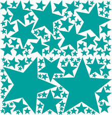 119 Peel Stick Removable Wall Decals Stars Turquoise Green 119 Total 1 X 12 25 In 1 X 11 25 In 1 X 7 5 In 1 X 7 In 2 X 6 In 2 X 5 5 In By Drama Decor Walmart Com Walmart Com