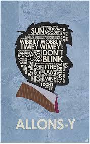com doctor who david tennant allons y word art print
