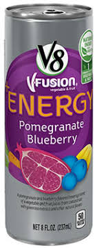 caffeine in v8 fusion energy drink