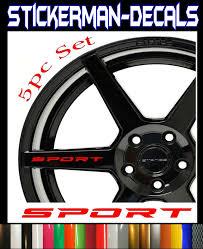 Sport Vinyl Decal Sport Car Sticker Racing Sticker Emblem Logo Black Pair For Sale Online Ebay