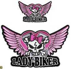 Lady Biker Winged Skull Small Badge For Women Biker Vest Motorcycle Patch Archives Statelegals Staradvertiser Com