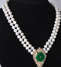whole beautiful 2rows white pearl