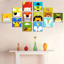 Hot Item Decorative Cartoon Pictures Canvas Art For Kids Room Art Wall Kids Kids Room Paint Kids Room Art