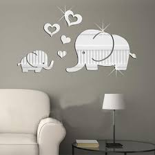 Elephant Wall Decor Mirror Sticker Diy Removable Art Baby Kids Room Mural Decals For Sale Online Ebay