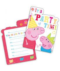 Invitaciones De Cumpleanos Peppa Pig Pack De 6 Uds
