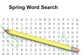 spring word searches for elementary