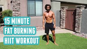 15 minute fat burning hiit workout no
