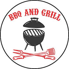 Amazon Com Cool Red Black Bbq Grill Master Cook Cartoon Icon Vinyl Sticker Bbq Grill Cooker Automotive