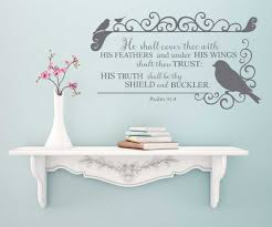 Psalm 91 4 Cover Thee Wall Decal Kjv A Great Impression