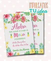 Tarjeta De 15 Tropical Invitacion De Quince Hawai Invitaciones