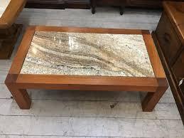 vintage retro chunky teak tile marble