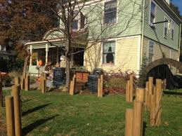 Cardboard Dock Pilings For Halloween Fence 4 Steps With Pictures Instructables
