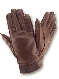 mens winter leather gloves brown lined