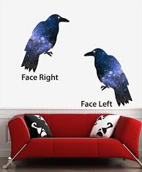 The Decal Store Com By Yadda Yadda Design Co Clr Wall Cosmic Crow Galaxy Raven Vinyl Wall Decal C Yydc 22 5