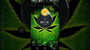 theme weed wallpaper neon icon pack