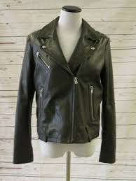 iro jone leather biker jacket charcoal