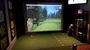 my golf simulator room you