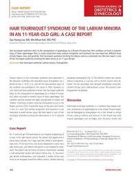 hair tourniquet syndrome of the labium
