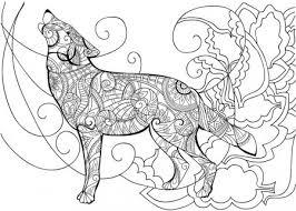 Kleurplaten Kleurplaat Voor Volwassenen Wolf Idee U00ebn Over