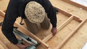 timber frame build wall framing for