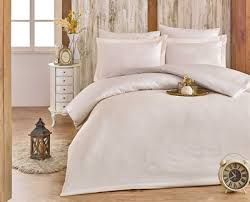damask cream satin jaquard double bed