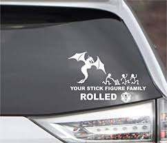 Amazon Com Popculturesigns D D Parody Your Stick Figure Family Rolled 1 Vinyl Decal 6 5 X 4 2 Automotive