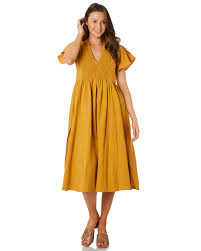 rue stiic henri dress golden yellow
