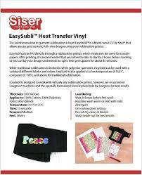 Easysubli Heat Transfer Vinyl Scriptdesigns