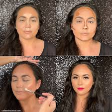 highlight with makeup contour makeup