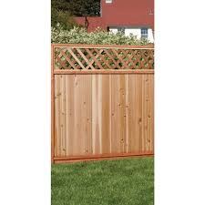 Unbranded 6 Ft X 8 Ft Premium Cedar Lattice Top Fence Panel With Stained Spf Frame Actual Size 68 3 8 In H X 96 In W 6x8ltp The Home Depot